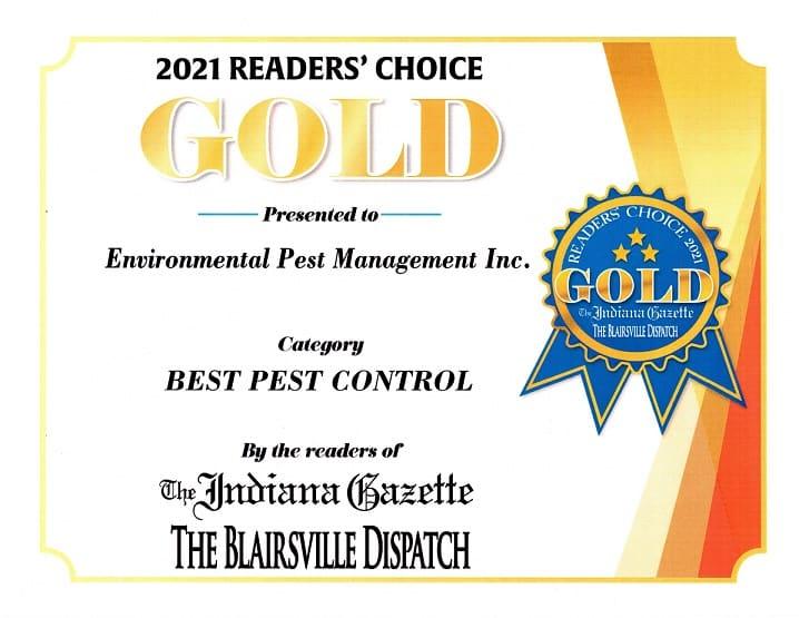 Gold Award Readers Choice